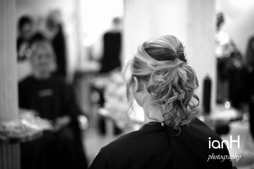 Wedding preparations - bridal hair