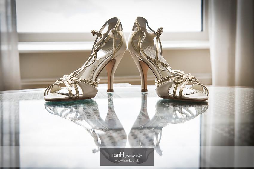Beach Weddings Bournemouth - Bride's shoes