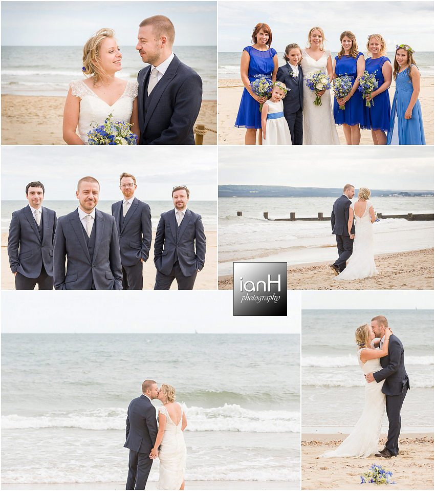 Bridal photos on Bournemouth beach