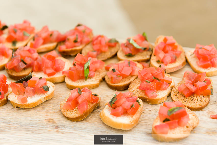Canapes at Bournemouth beach wedding