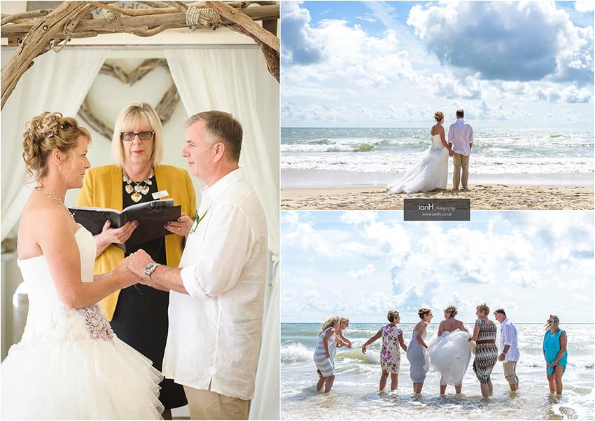 Beach Weddings Bournemouth - Julie and Mark