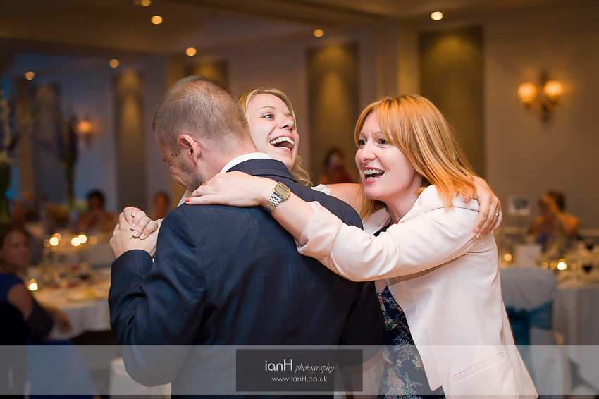 Wedding guest joins Bride and Groom during their First Dance