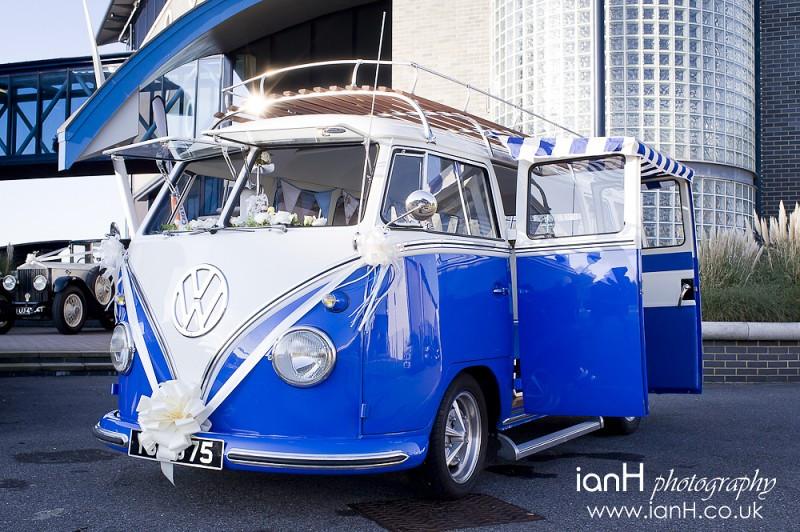 Gorgeous VW Splitty wedding car from VW Splitty Wedding Bus Hire in Dorset