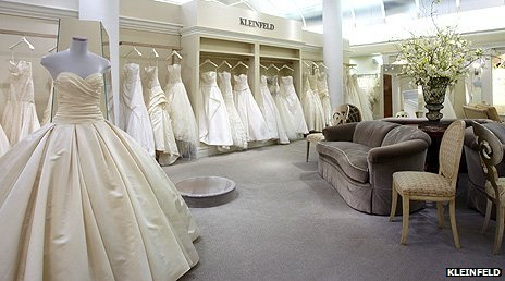 Interior of Kleinfeld Bridal - New York wedding store - Dorset wedding photographer