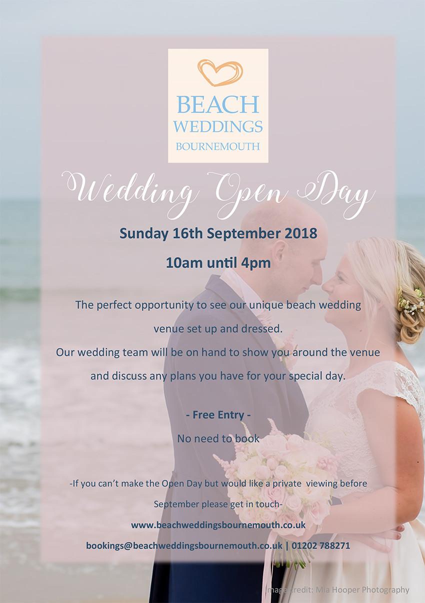 Beach Weddings Bournemouth Open Day 2018