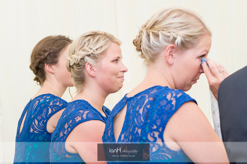 Tears from the Bridesmaids at Hampshire wedding