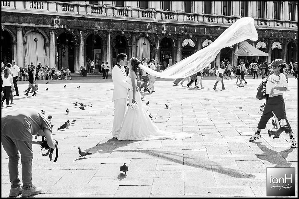 Asian wedding - Piazza San Marco Venice