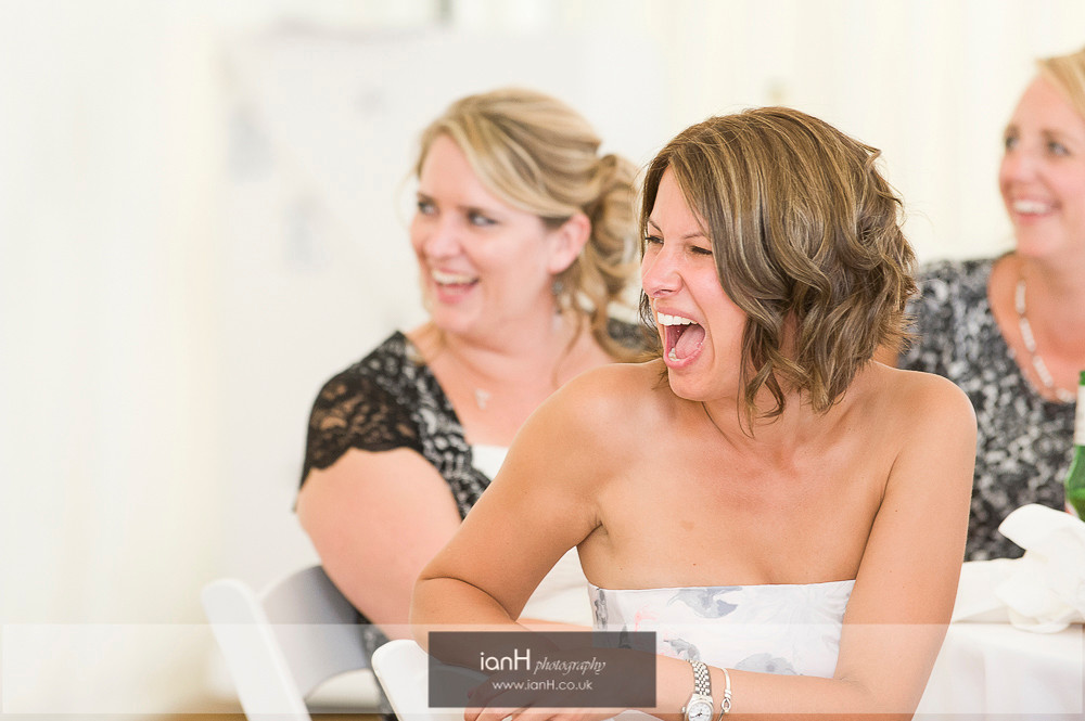 Laughter at Bournemouth beach wedding
