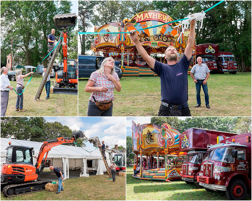 Preparations for quirky new Forest wedding