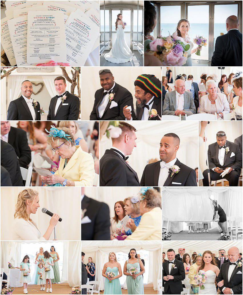 Beach Weddings Bournemouth ceremony
