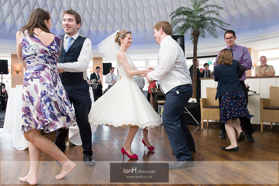 Dancing at wedding BournemouthPier