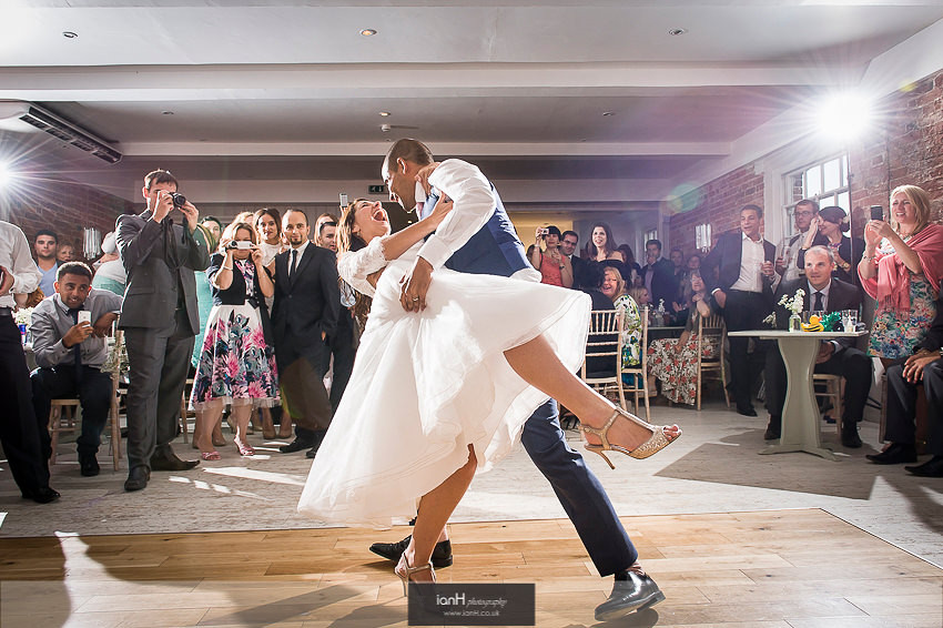 First Dance at Sopley Mill wedding