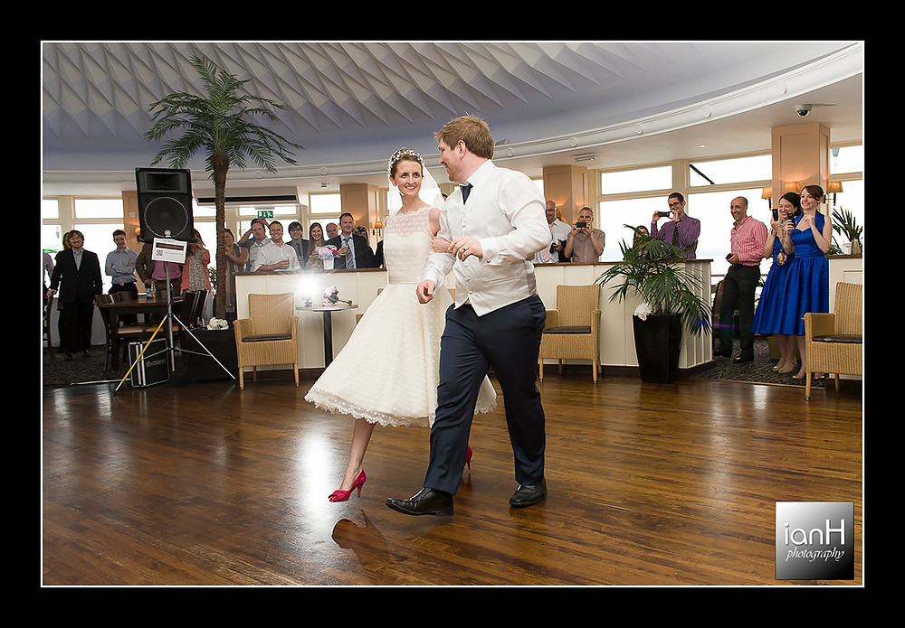 Beach Weddings Bournemouth - Sarah & Andy with their First Dance on Bournemouth Pier