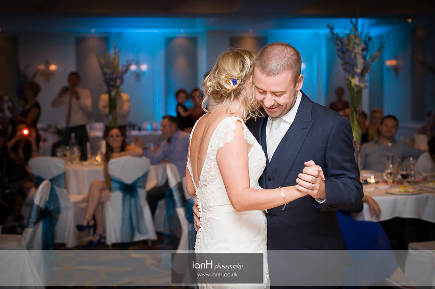 Bride and Groom First Dance at Bournemouth Marriott Hotel
