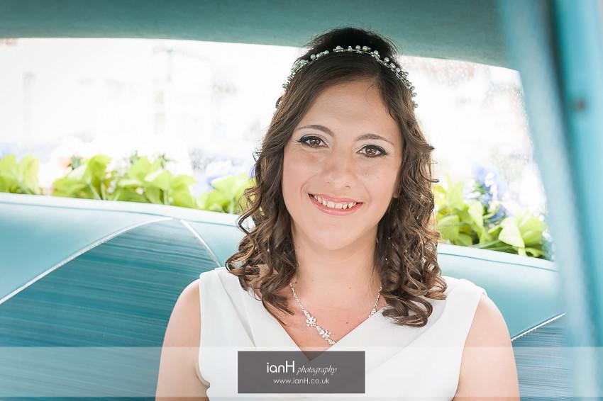 Bride in a Chevrolet Bel Air