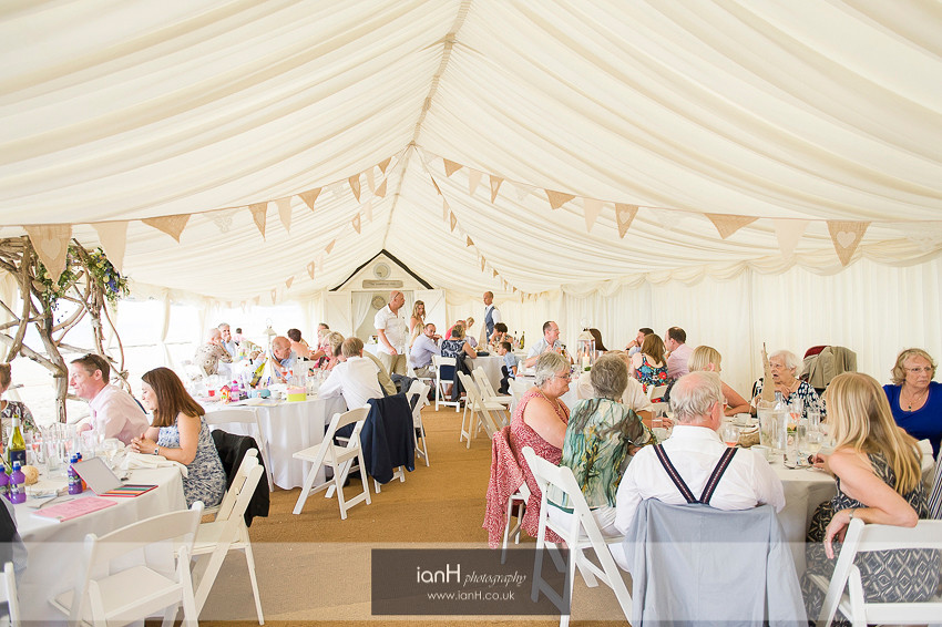 Beach Weddings Bournemouth marquee reception