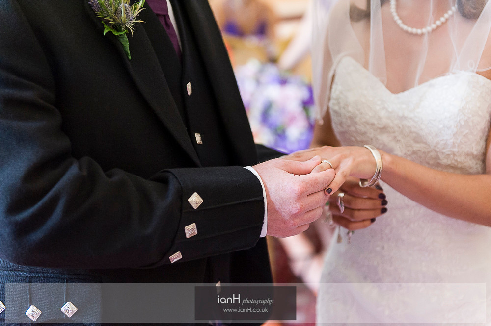 Exchange of rings - Norfolk Hotel Bournemouth wedding