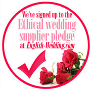 English weddings - accredited ethical supplier