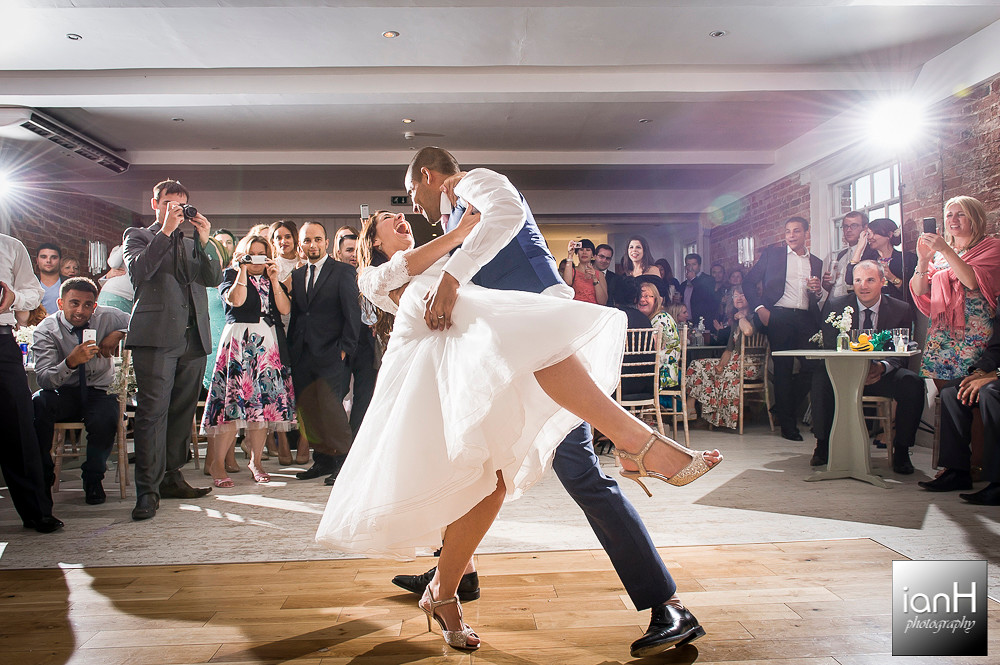 Bride and Groom First Dance at Sopley Mill