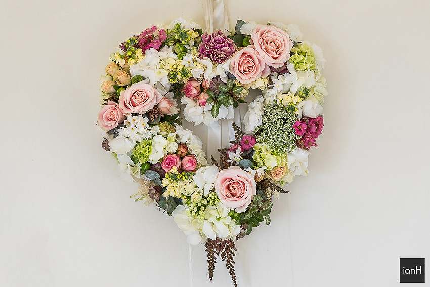 Floral wedding heart