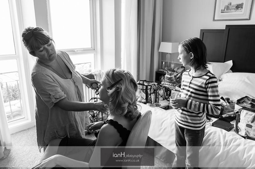 Bridal preparation at Marriott Highcliff Bournemouth