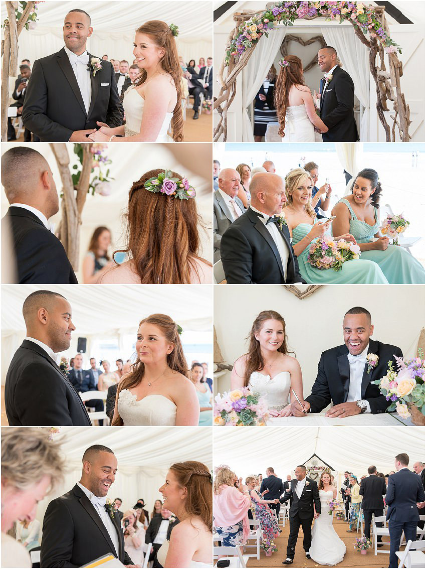 Wedding ceremony at Beach Weddings Bournemouth