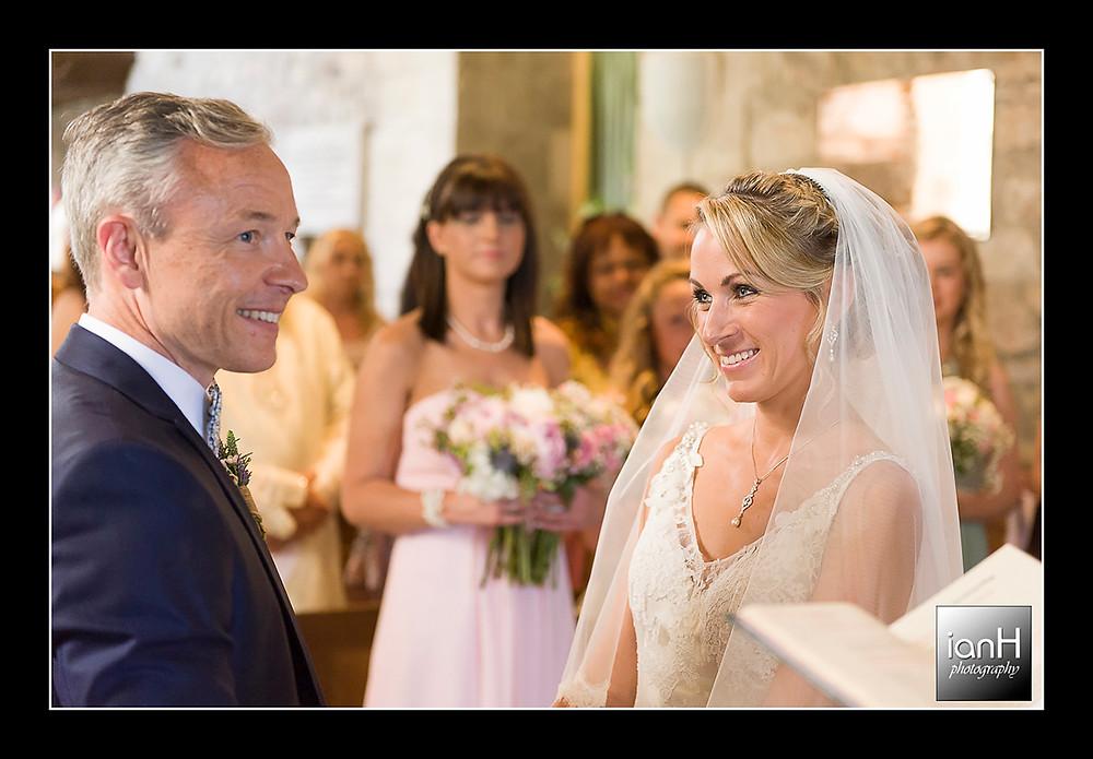 Studland church wedding exchange of vows