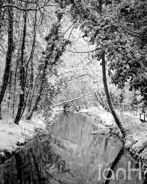 Photograph of river in winter - Dorset photographer