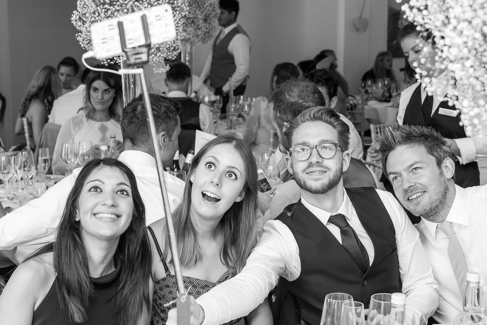 Selfie time at an Italian Villa wedding