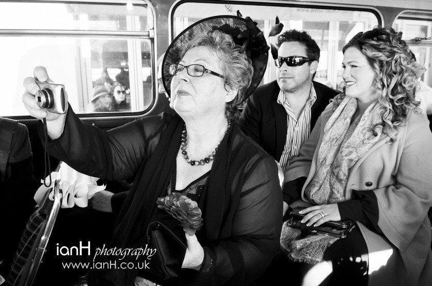 Bournemouth_wedding_photographer_wedding_party_onboard_a_London_Routemaster_bus_on_Bournemouth_seafront