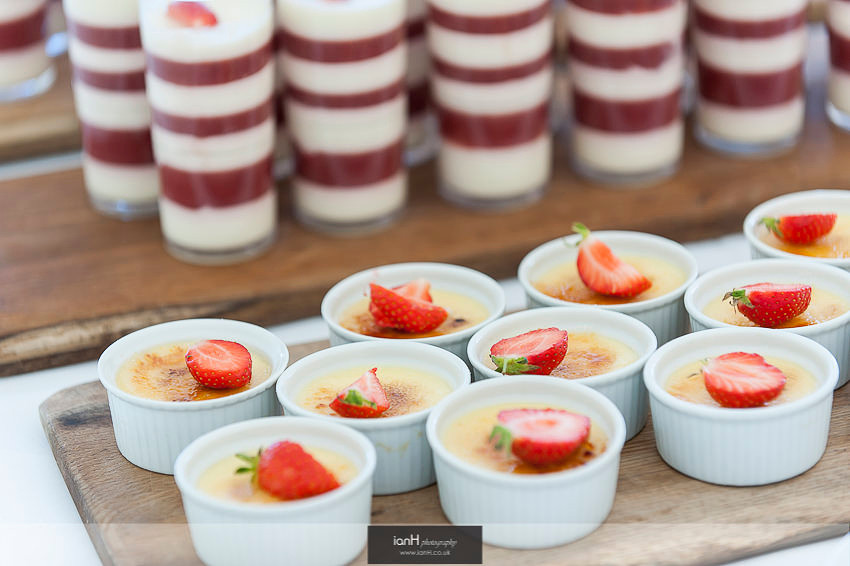 Desserts at a Bournemouth beach wedding