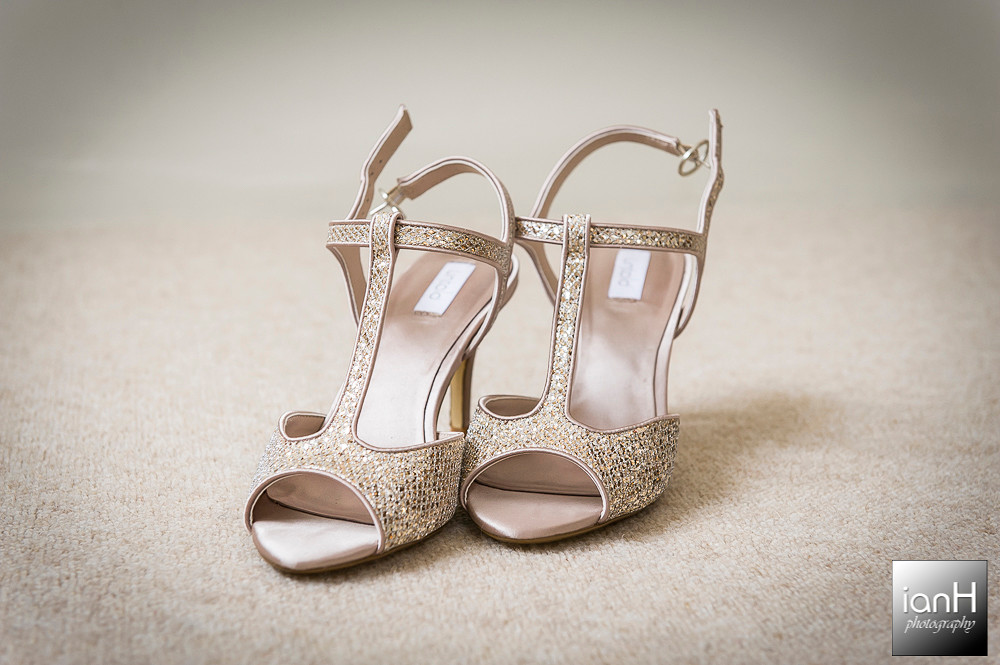 Brides shoes - Sopley Mill Summer Wedding