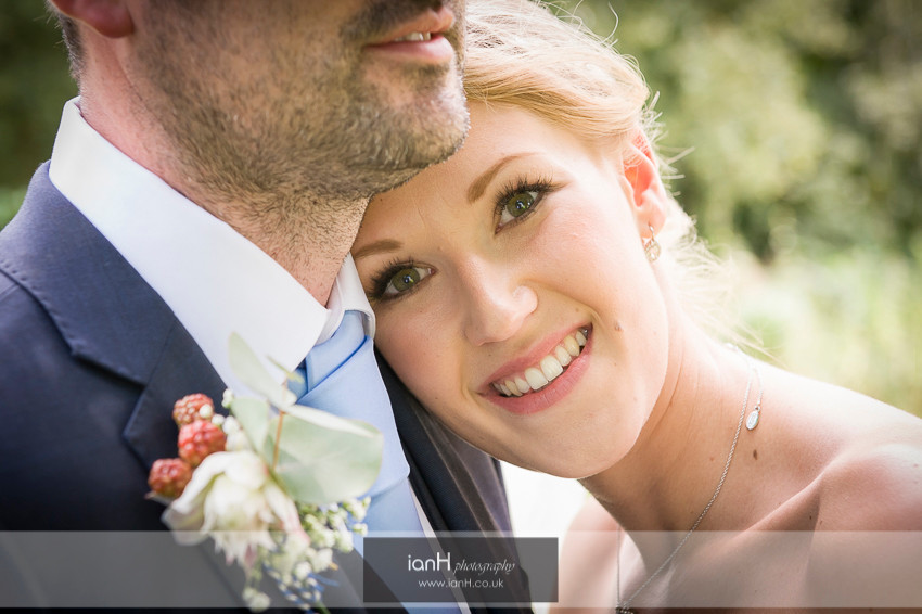 Smiling Bride at Summer wedding in Hampshire