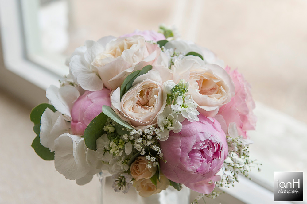 Bridal bouquet Sopley Mill wedding