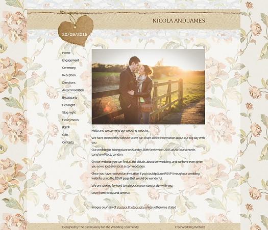 How to get a free wedding website