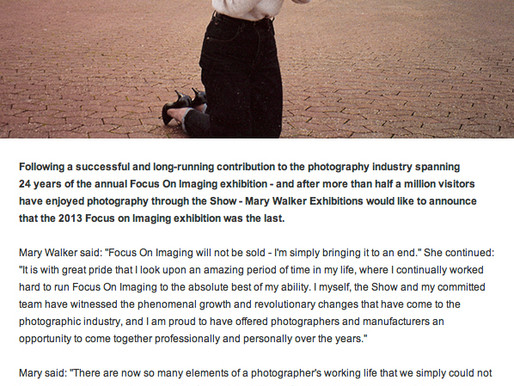 Focus on Imaging – the end