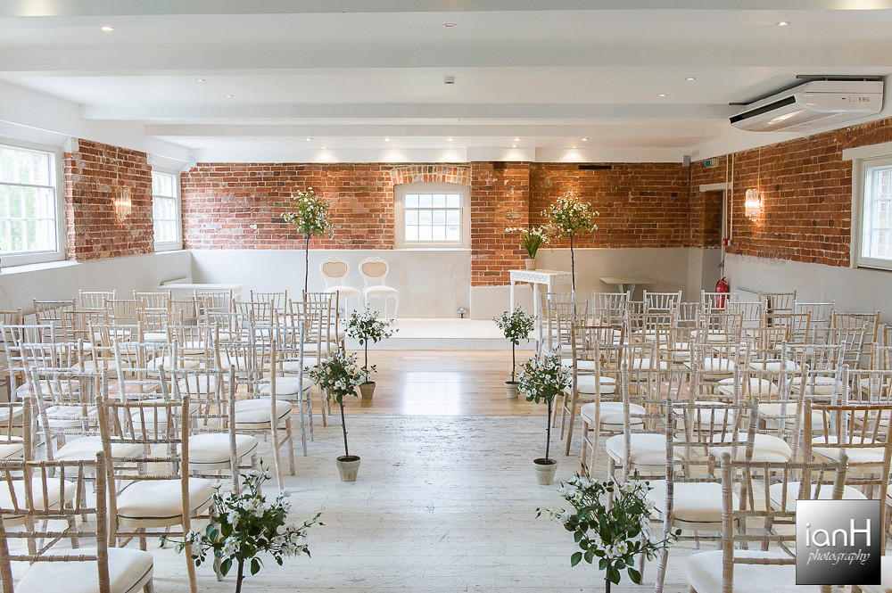 Ceremony room Sopley Mill Summer Wedding