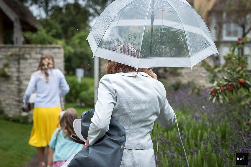 wet weather wedding umbrella