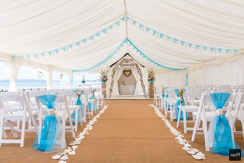 Marquee at Beach Weddings Bournemouth