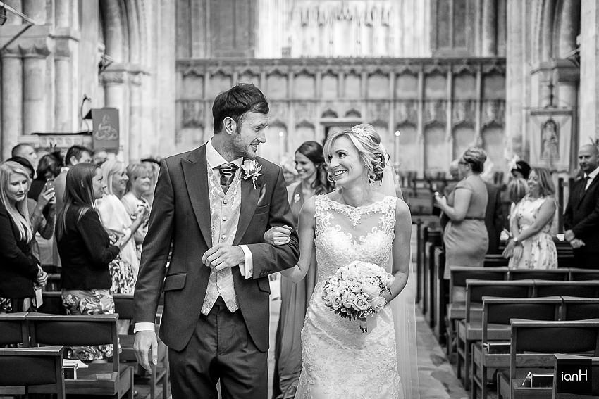 Wedding Recessional at Christchurch Priory