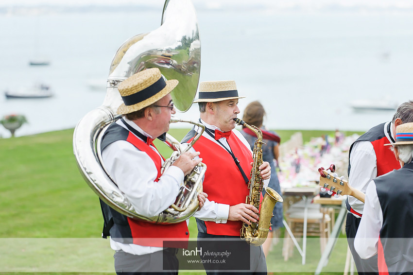 Silk Street Jazz Band at Studland wedding