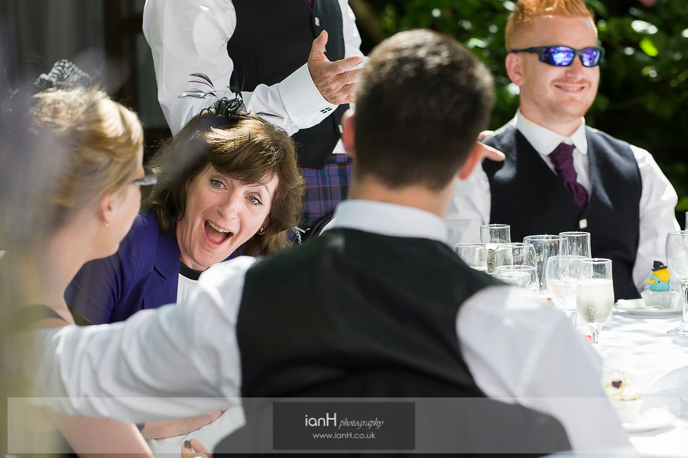 Laughter at Norfolk Hotel wedding
