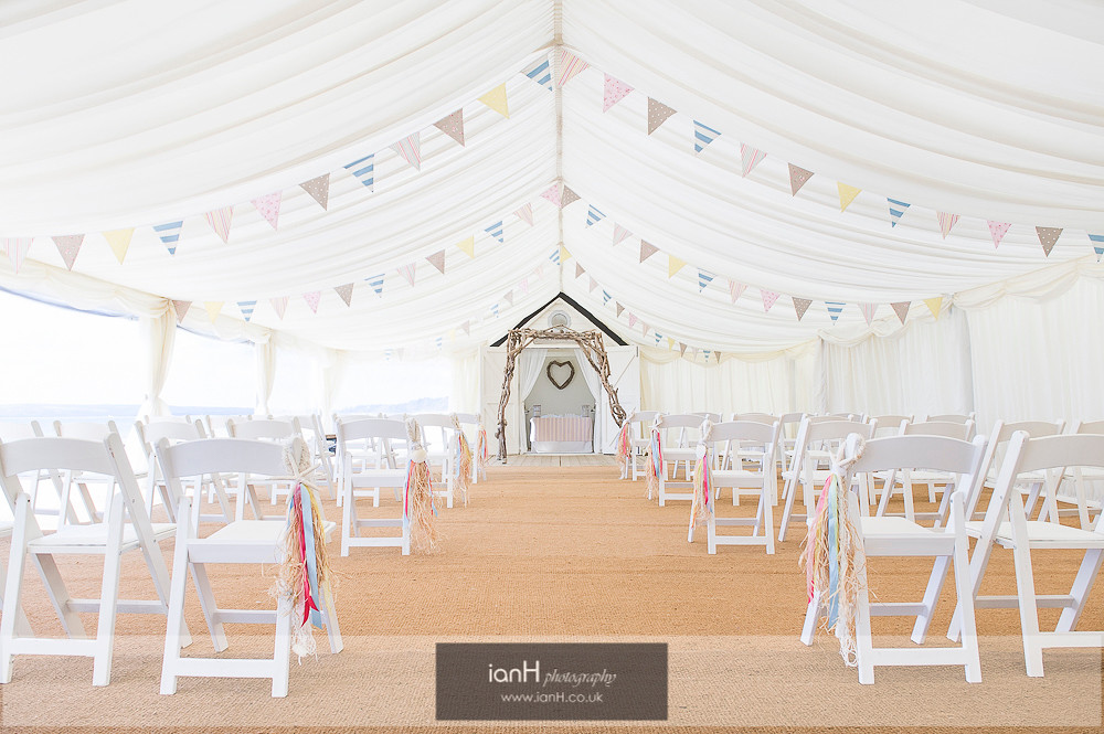 Beautiful Bournemouth beach wedding