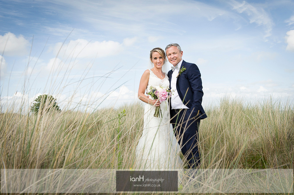 Bride and Groom on Studland beach