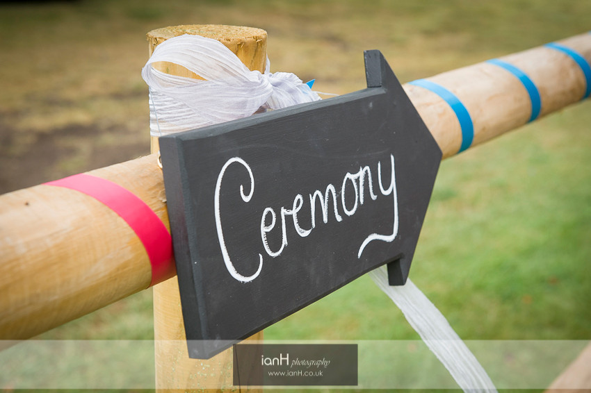 To the ceremony chalk-board