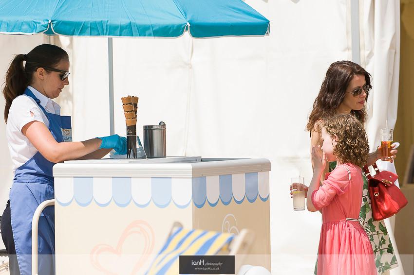 Ice cream cart at Bournemouth beach wedding
