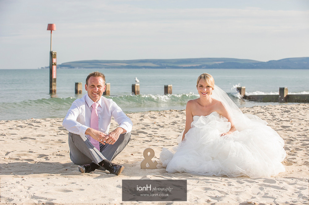 Bride and Groom on Bournemouth beach