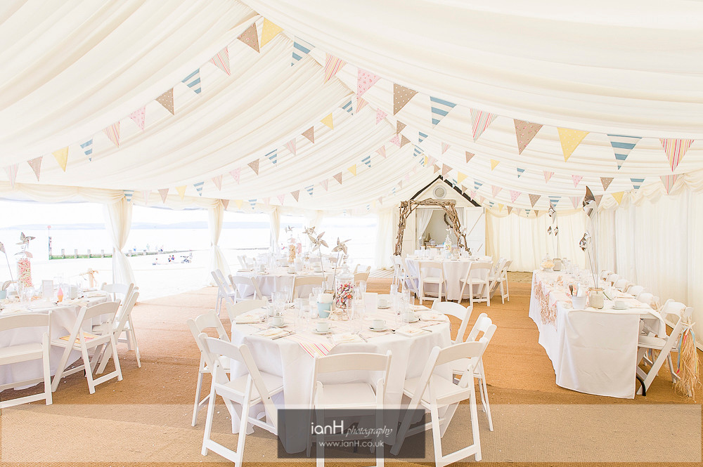 Beach Weddings Bournemouth marquee