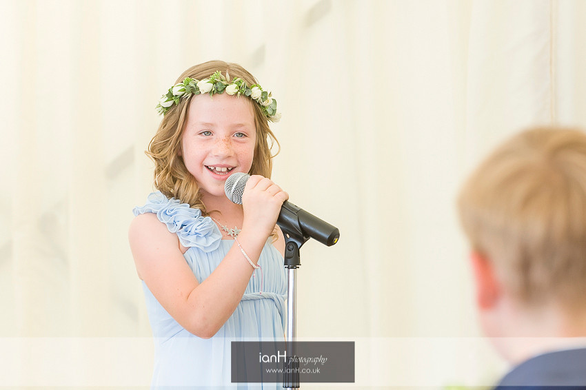 Flower Girl reading at Beach Weddings Bournemouth