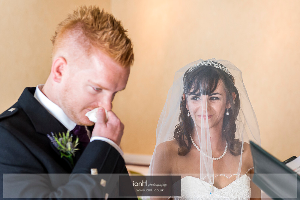 Groom cries at Bournemouth wedding